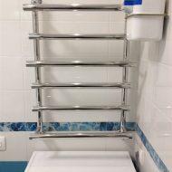 Установка сушилки в ванной комнате