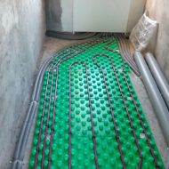 Теплый пол на подложке в коридоре